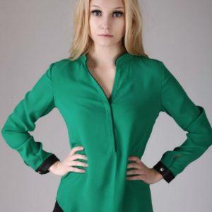 blusas para uniformes ejecutivos en santo domingo, rd, con caida y puños combinados