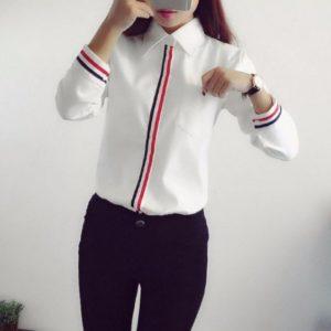 blusas para uniformes ejecutivos en santo domingo, rd, sencilla, con puños y frente con una cinta