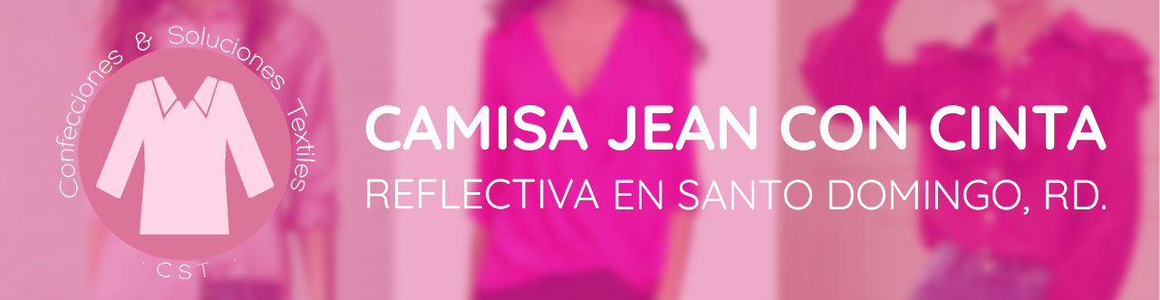 camisa jean con cinta reflectiva